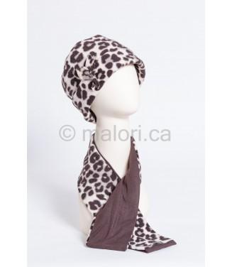 Chapeau et foulard en polar...