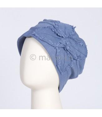 Bonnet butterfly - bleu denim