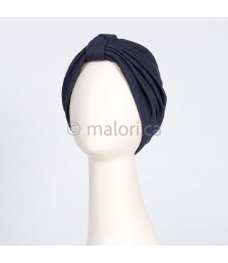 Turban de coton - marine